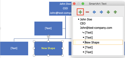 Add shapes to org chart