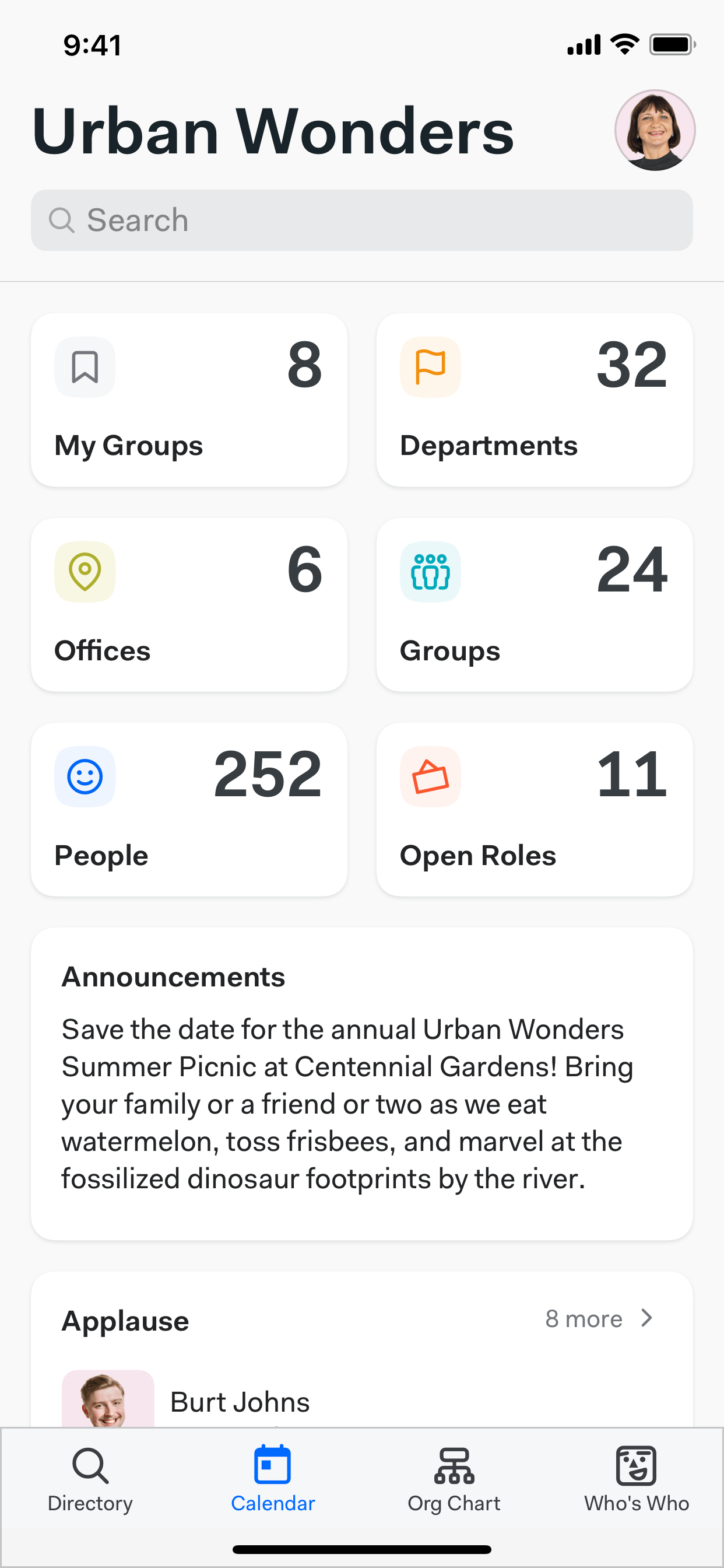 Find coworkers easily