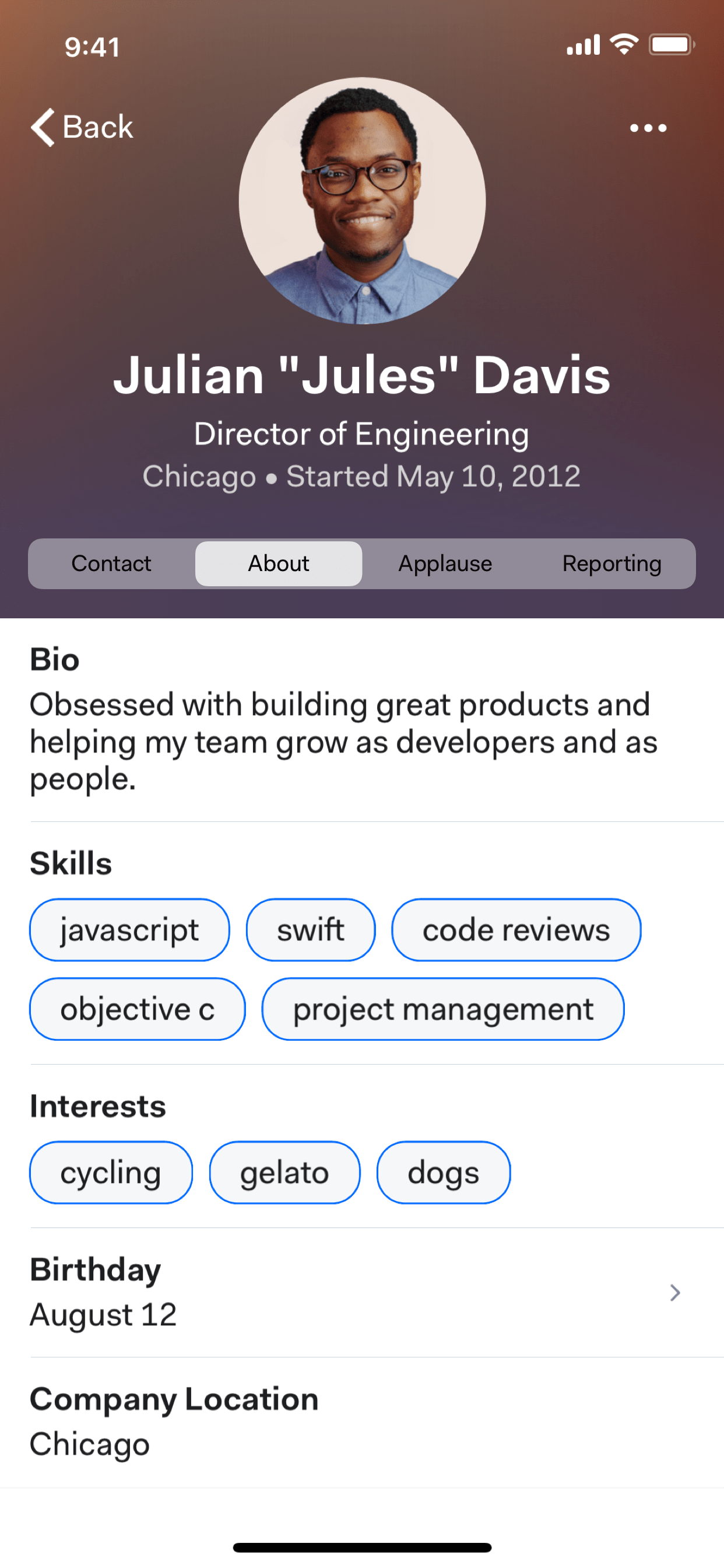 Mobile profiles for your staff