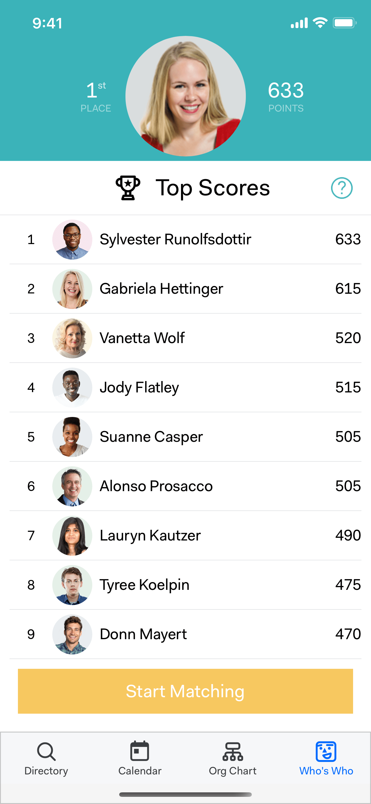 A leaderboard for your company